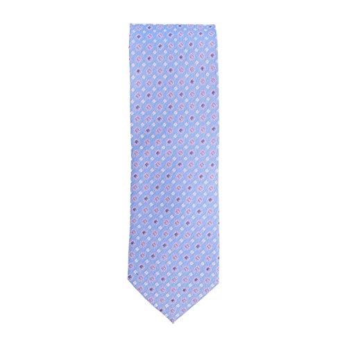 Basic Ties stropdas klassiek polyester paars roze tegels 8 cm