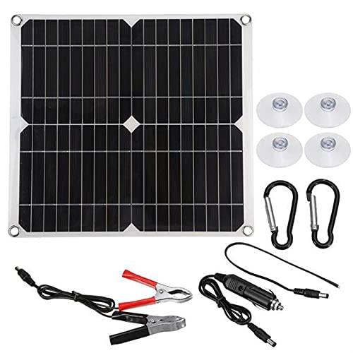 Panel Solar Dual De 100w Y 12v/5v Con USB, Controlador De 30A, Células Solares A Prueba De Agua, Células Solares Policristalinas Para Coche, Yate, RV, Cargador De Batería ( Color : Only Solar Panel )