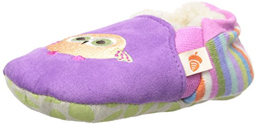 Acorn Girls' Easy-On Moc Moccasin, Purple Owl, 18-24 Months M US Toddler