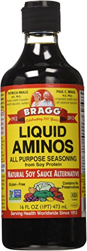Bragg Liquid Aminos All Purpose Seasoning Soy Sauce Alternative, 16 ounce
