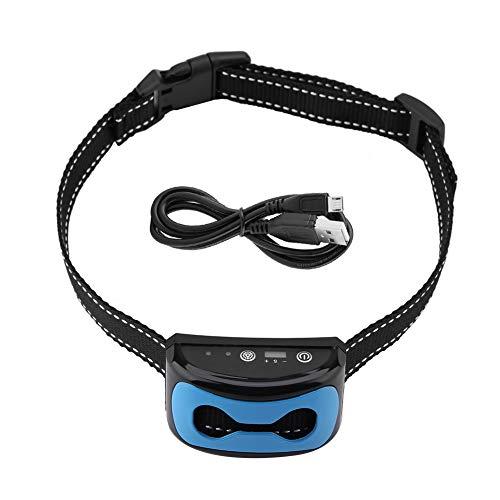 Collar de adiestramiento para perros, detección de ladridos recargable, dispositivo de control de ladridos, duradero y cómodo para modificar el comportamiento de las mascotas