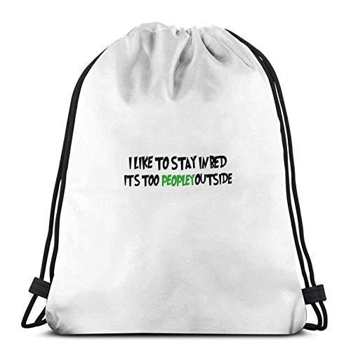Itâ€s Too Peopley Outside Sport Sackpack Drawstring Backpack Gym Bag Sack