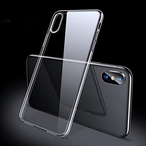 Maxi Funda de lujo compatible con iPhone X XS 8 7 6S 12 SE 2 Ultra delgada suave TPU Silicona Funda compatible con iPhone XR 8 11 7 Funda