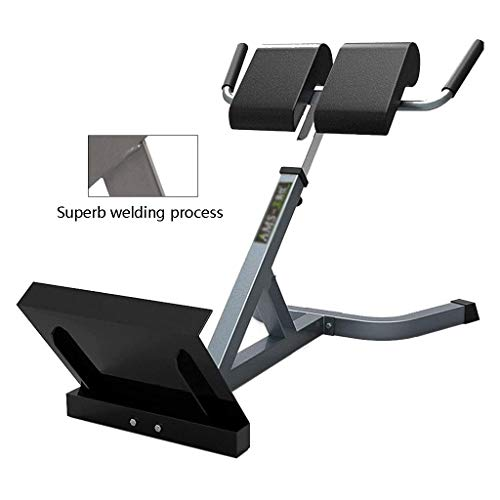 Weight Lifting Dumbbell Sleeper Roman Chair Waist Exercise Fitness Equipment Family Supine Board Multi-Stage Adjustment No Damage to The Floor No Space (Color : Black, Size : 42 * 112 * 70-80cm)
