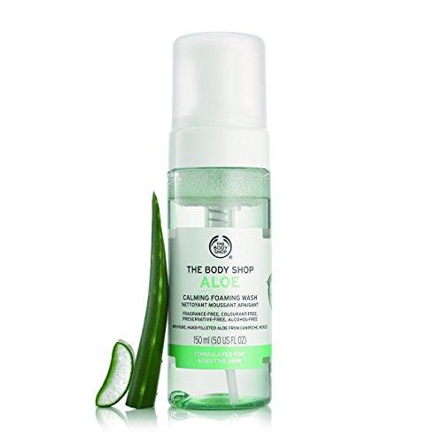 The Body Shop Aloe Vera Calming Foaming Wash, Paraben-Free Face Wash, 5.0 Fl. Oz.