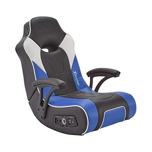 X Rocker G-Force Sport 2.1 Gaming Sessel   Floor Rocker   Gaming Stuhl mit 2.1 Audiosystem   Blau/Schwarz