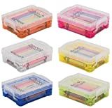 Advantus Crafts (6-Pack) Storage Studios Super Stacker Crayon Box 1.6 inch x 3.5 inch x 4.8 inch Assorted Colors 61612