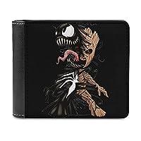 Venom And Groot 財布 メンズ 二つ折り 合皮 ミニ財布 薄い 軽量 カード収納 コンパクト おしゃれ ビジネス 男の子 父の日 ギフト 男女兼用