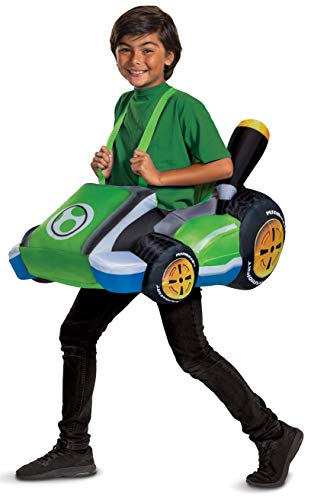 Yoshi Costume Kart, Inflatable Mario Kart Costume Accessory for Kids,...