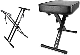 RockJam Xfinity Heavy-Duty, Double-X, Adjustable Piano Keybo