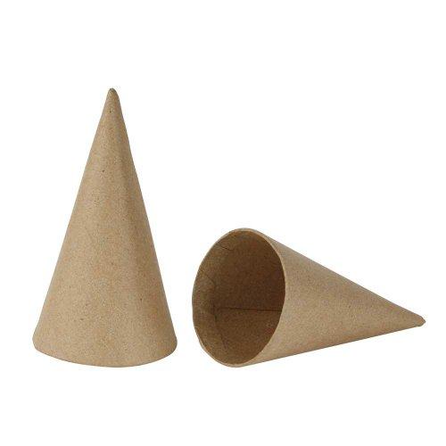 Creativ Company 265501 Kegel, 10 Stück, H: 14 cm, D: 7 cm, beige
