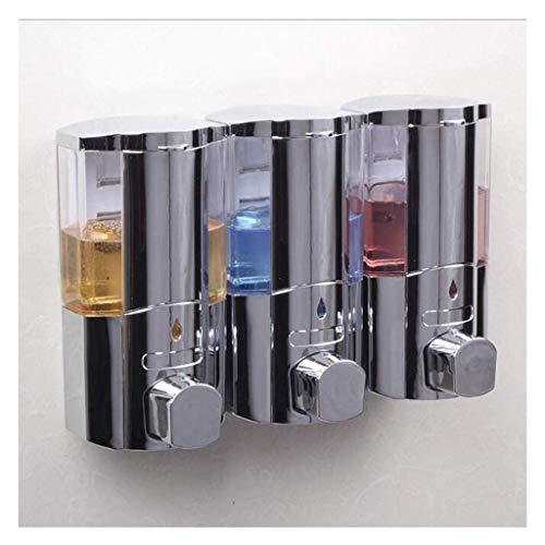 Dispensador de jabón Duradero Dispensador de jabón para Platos de 900 ml Dispensadores de líquido para Ducha de Montaje en Pared Recipientes con Cerradura Dispensador de jabón para