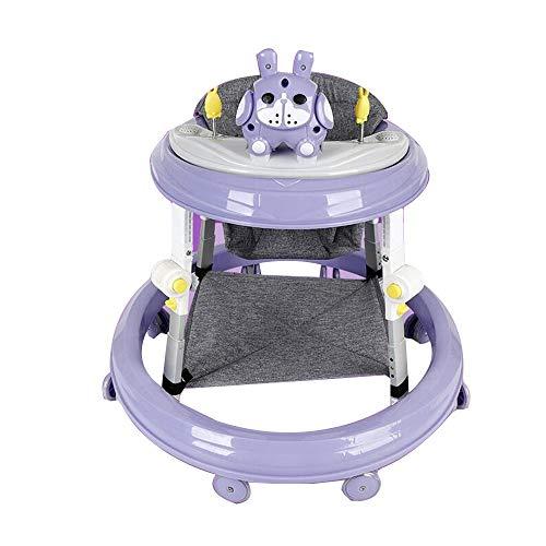 YumEIGE Rollator, inklapbaar, 8 snelheidsniveaus, 6-18 maanden, uitgebreid frame, anti-slip rem, met schokdemping, draagkracht 60 kg Paars