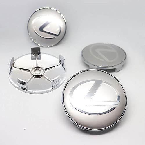 auspilybiber Juego de 4 Tapas centrales de Cubo de aleación de Centro de Rueda de 60 mm compatibles con Cubiertas centrales de Rueda de Coche Lexus