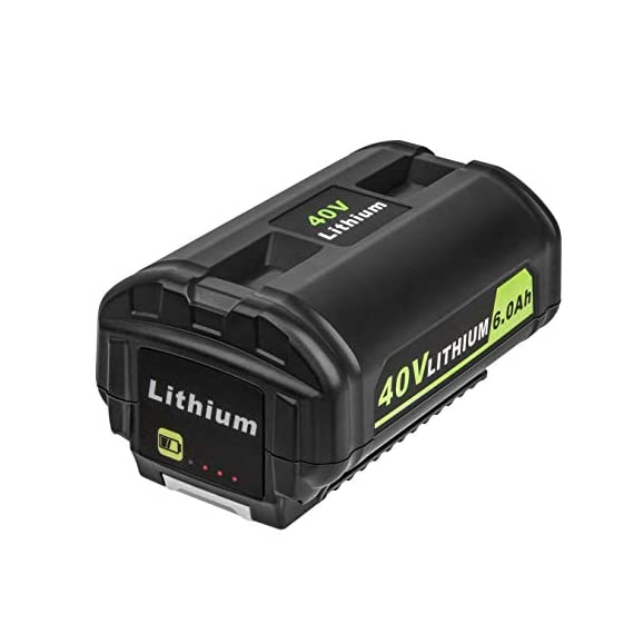 CELL9102 Replacement 6.0Ah 40V Lithium ion Battery for Ryobi Lawn Mower 40v Battery OP4015 OP4050A OP4040 OP4050 OP40201 1 The Cell9102 Advantage : Professional power tool battery manufacturing factory, with dozens of research and development team.And carefully prepared a drill brush for you, so that you can use the battery more efficiently to bring convenience to your life. Ultra-High Capacity : This item compative with ryobi 40v lithium battery weighs just 2.9 pounds but has a capacity of 6,000 mAh and use high-quality lithium-ion cells. Certified Safe : Cell9102's MultiProtect safety system ensures complete protection for you and your devices.And this Battery for ryobi 40v lithium battery is perfectly compatible with OP4050A OP4015 OP4026 OP40201 OP40261 OP4030 OP40301 OP4040 OP40401 OP4050 OP40501 OP40601.