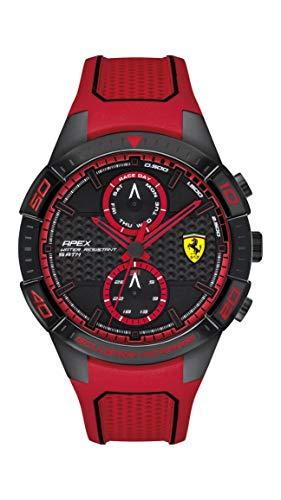 Ferrari Herren Multi Zifferblatt Quarz Uhr mit Gummi Armband 830639