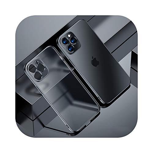 Carcasa de TPU transparente para iPhone 12 11 Pro Max Mini iPhone X XR XS 7 8 Plus 6 6S SE 2020 suave transparente cubierta de teléfono negro para iPhone 12 Pro