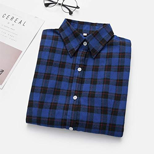 NSSYL damestops, oversized, blouses, ruitpatroon, flanel overhemd, lange mouwen