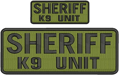 Embroidered Patch - Patches for Women Man - Sheriff k9 Unit Hook on Back Black Letters od