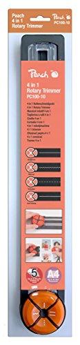 Peach PC100-10 Rollenschneider | 4-in-1 Schneidemaschine | schneidet 5 Blätter| 4 Schnittarten | Gerade - Welle - Perforation - Rillung/Falzen