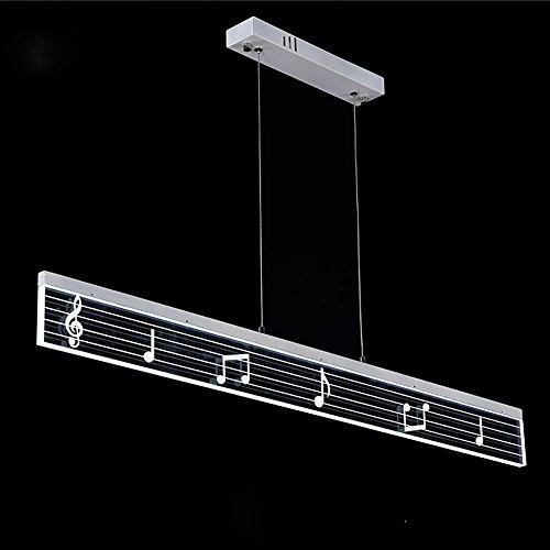 LED pendentif lampe suspension suspendu musique moderne lampe d'éclairage Plafonnier design lampe salle à manger panneau rectangulaire en acrylique et lampe aluminium 19W Dimmable