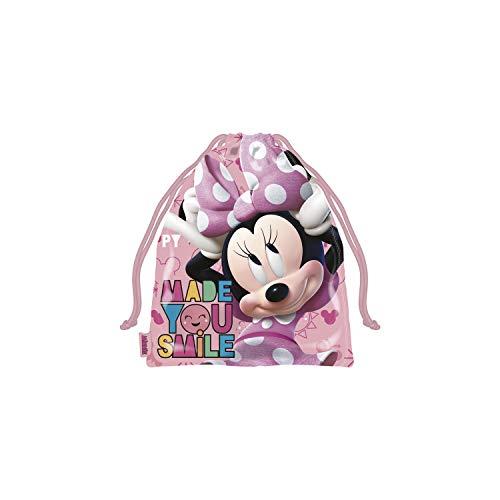 ARDITEX WD13194 Bolsa Merienda 26.5X21.5cm de Disney-Minnie