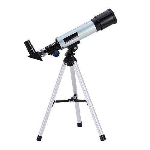 Telescopio para Principiantes De Astronomía para Niños, con Mochila para Llevar Fácilmente - Telescopio De Viaje para Ver La Luna Y El Planeta (Color : White)