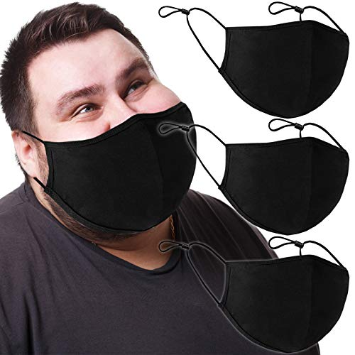 3pcs- Large Adults Washable Cloth Face Shield Reusable Comfort Safety Protection cotton XL
