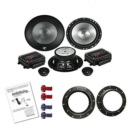 Hifonics AS 6.2C Lautsprecher mit Einbauset passend für VW Volkswagen Golf V...