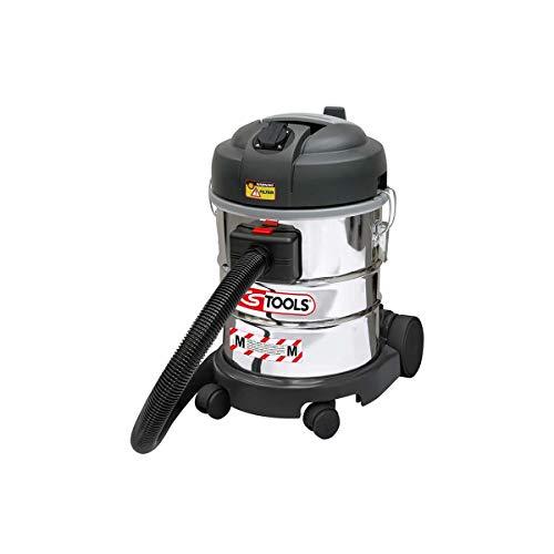 KS Tools 166.05 waterstofzuiger, 1400 W, 20 l, met filter voor fijnstof, wit