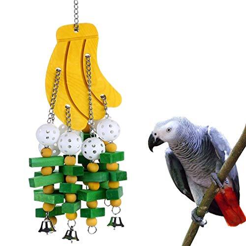 Smere Loro Grande Masticar Juguete para pájaro Guacamayo Gris Africano cacatúa amazónica eclectus periquitos Periquito Cockatiel Conure Jaula de agapornis Gran Juguete de Madera