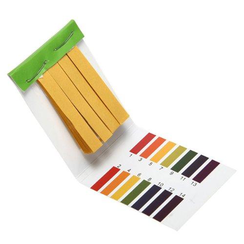 80 bandes pH alcalin d'acide Full Range 1-14 Water Test Test Kit Papier tournesol