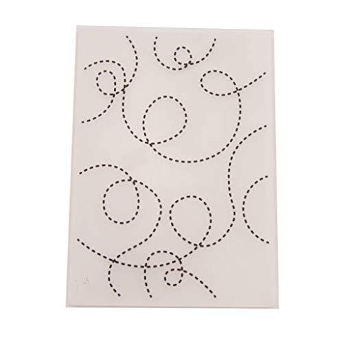 VIccoo Embossing Folder, Kunststoff Prägung Ordner Vorlage DIY Scrapbook Fotoalbum Karte Gepunktete Linie
