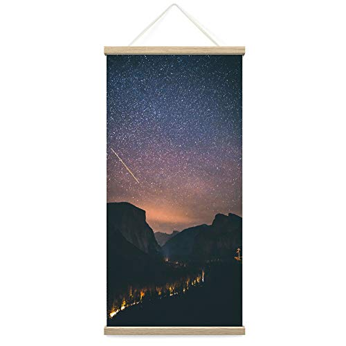 """Bestdeal Depot Hanging Poster Sky of Stars XII Astronomy & Space Dark Dramatic Modern Photography Stars Canvas Prints Wall Art for Living Room, Bedroom - 18""""x36"""""""