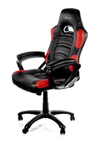 Arozzi - Enzo sedia da Gaming, Nero Rosso, 50 x 55 x 130