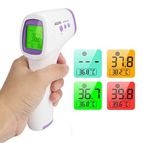 Pistola de temperatura frontal profesional para ter&mometro electrónico pantalla instantánea digital lecturas...