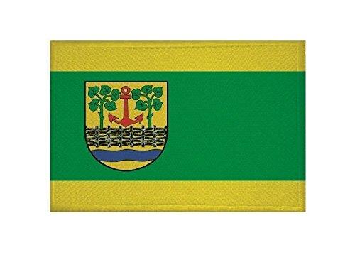 U24 Aufnäher Leck (Nordfriesland) Fahne Flagge Aufbügler Patch 9 x 6 cm