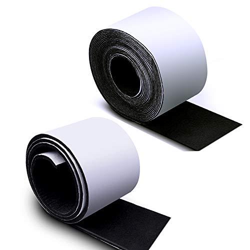Sieman 2 Pack Filz Tape (150×10×0.4cm und 450×5×0.1cm) Filzgleiter Selbstklebend Schwarz Frei Formen und Größen Geschnitten Werden Der perfekte für Stühle, Sofas Möbelbodenschoner
