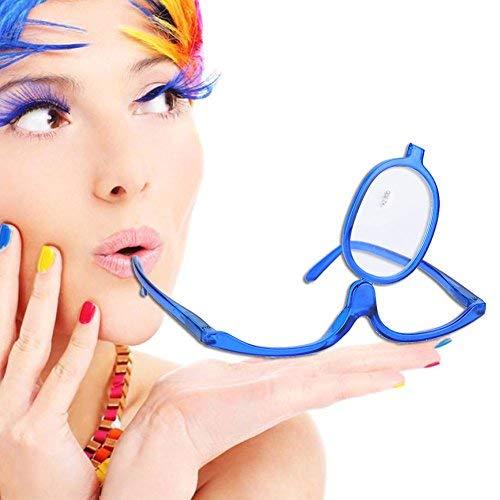 Ingrandisci Occhi Trucco Occhiali Occhiali rotanti a lente singola Strumento essenziale per il trucco delle donne(300)