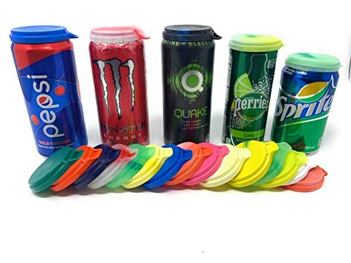 Soda Can Lids 20 Made in the USA Soda Pop Beer Can Covers BPA Free Caps