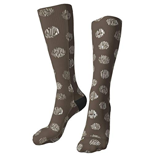 iuitt7rtree Animal Print Polka Dots On Mud Brown Calcetines Gruesos y cálidos Personalizados Calcetines de...