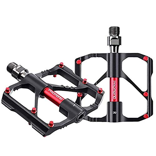 Xyl Montaña Pedal de la Bicicleta Pedal de la Bicicleta Internet Negro Pedal de la Bicicleta Ligera aleación de Aluminio con Antideslizante