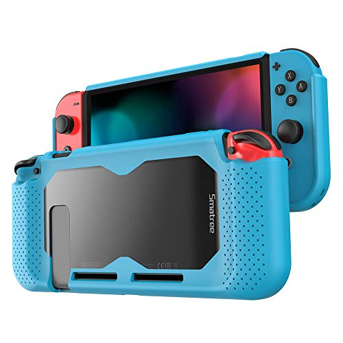 Smatree Cover Case for Nintendo Switch,TPU Grip Hard Protective Case Compatible for Nintendo Switch, Comfort Handheld Back Cover for Nintendo Switch Console (Blue)