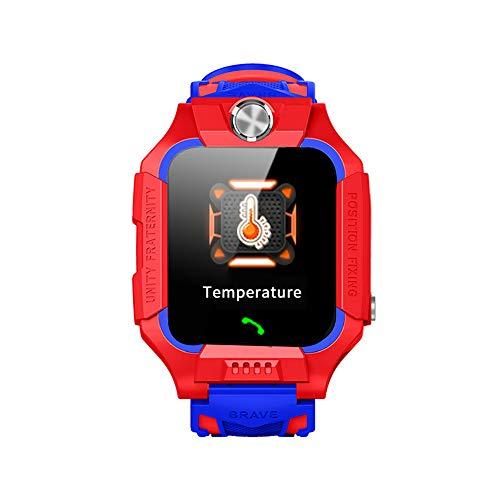 """Flytise 1.44""""Reloj Inteligente para niños con termómetro Llamada bidireccional Chat de Voz Ubicación LBS SOS Pulsera de Ayuda de Emergencia IP67 Relojes Inteligentes a Prueba de Agua para bebés Niños"""