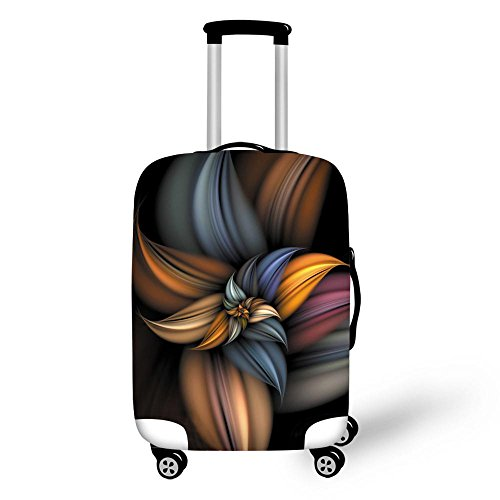 La Funda de Equipaje Cubre Las Flores, Mantiene su Maleta de Viaje Limpia y Protege (M (22'-26' Cover))