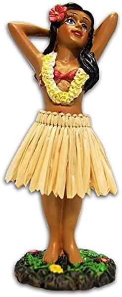 KC 夏威夷草裙舞女孩摆姿势迷你仪表盘娃娃 4 4