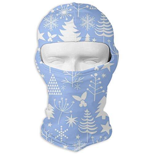 Army-Z Azul Invierno Navidad Patrón Pasamontañas a Prueba de Viento Protección Solar Cara Completa Bufanda Capucha