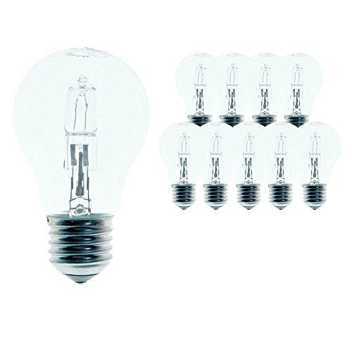 Osram A Classic Pro Energy Saver 64543A - Set di 10 lampadine alogene, 46 Watt (corrispondenti a 60 Watt), attacco E27, 235V, forma a goccia, vetro trasparente