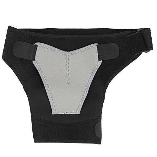 SH-RuiDu Sport-Bandage, verstellbare Schulterpolster, Schutz vor Belastung, Schutzausrüstung für die rechte Schulter, Grau