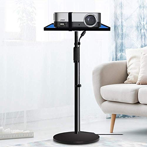 N/Z Home Equipment Projector Stands Projector Stand Adjustable Video Projector Floor Table on Wheels Tall Moveable Laptop Trolley Portable Height Projector Accessories